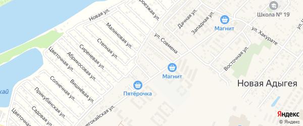 Архитектурная улица на карте аула Новой Адыгеи с номерами домов