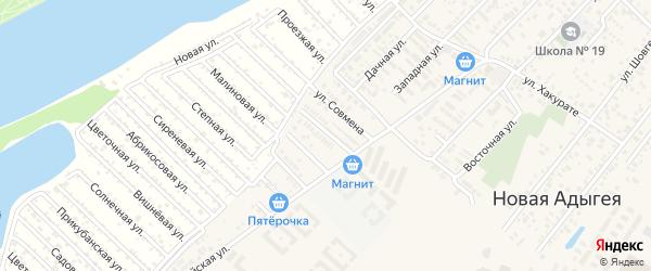 Улица Им Хутыза на карте аула Новой Адыгеи с номерами домов