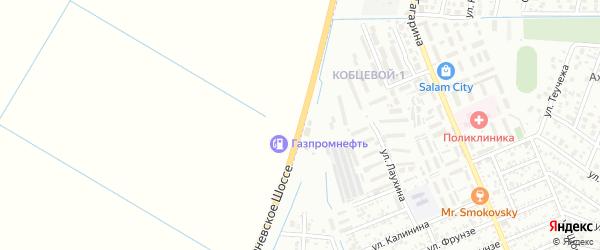 Улица Тургеневское шоссе на карте Яблоновского поселка с номерами домов