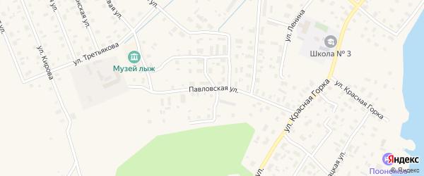 Павловская улица на карте Каргополя с номерами домов