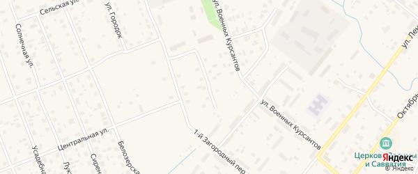Цветочный переулок на карте Каргополя с номерами домов