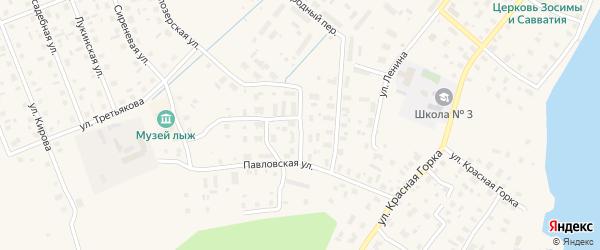 2-й Загородный переулок на карте Каргополя с номерами домов
