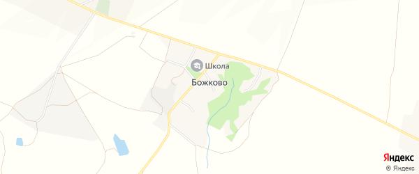 Карта села Божково в Белгородской области с улицами и номерами домов