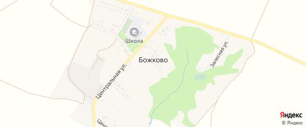 Залесная улица на карте села Божково с номерами домов