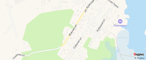 Южная улица на карте Каргополя с номерами домов