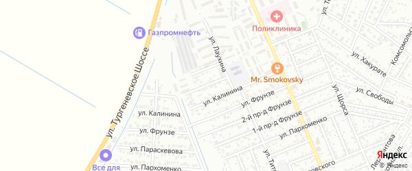 Шапсугский переулок на карте Яблоновского поселка с номерами домов