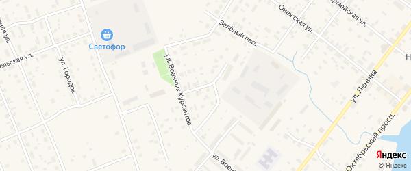 Светлый переулок на карте Каргополя с номерами домов
