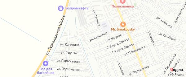 Улица Калинина на карте Яблоновского поселка с номерами домов