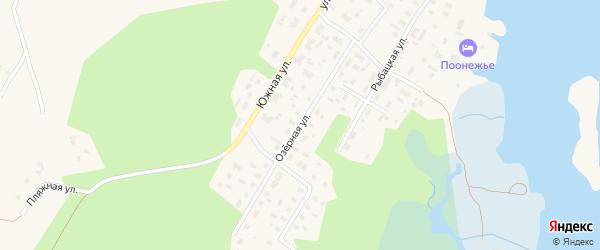 Озерная улица на карте Каргополя с номерами домов