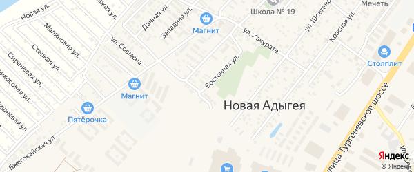 Восточная улица на карте аула Новой Адыгеи с номерами домов