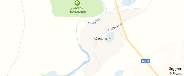 Карта Озерного хутора в Белгородской области с улицами и номерами домов