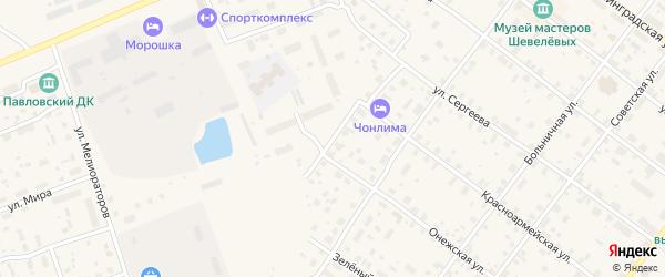 Садовый переулок на карте Каргополя с номерами домов