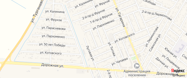 Лабинский 2-й проезд на карте Яблоновского поселка с номерами домов