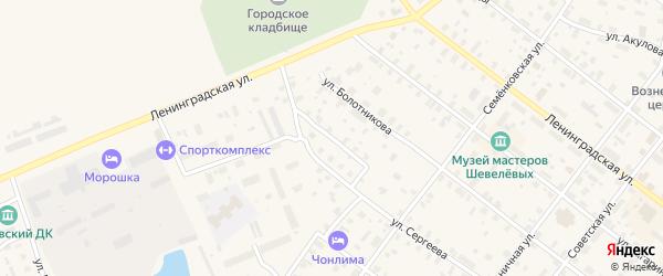 Печниковский переулок на карте Каргополя с номерами домов