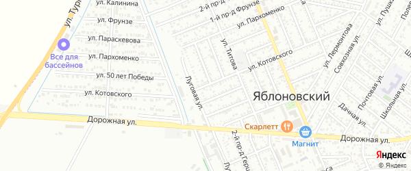 Улица Котовского на карте Яблоновского поселка с номерами домов