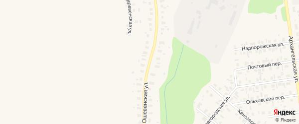 Ошевенская улица на карте деревни Зажигино с номерами домов