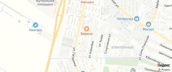 Новороссийская улица на карте Яблоновского поселка с номерами домов