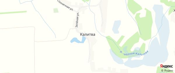 Карта села Калитвы в Белгородской области с улицами и номерами домов