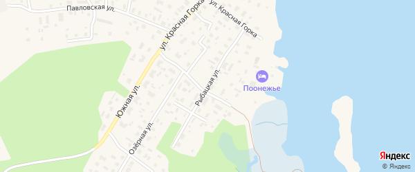 Рыбацкая улица на карте Каргополя с номерами домов