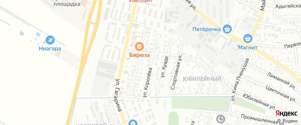 Улица Королева на карте Яблоновского поселка с номерами домов
