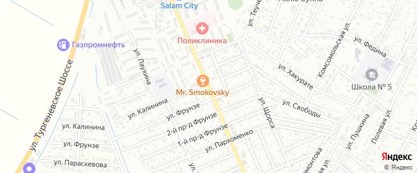 Дорога Гагарина на карте Яблоновского поселка с номерами домов