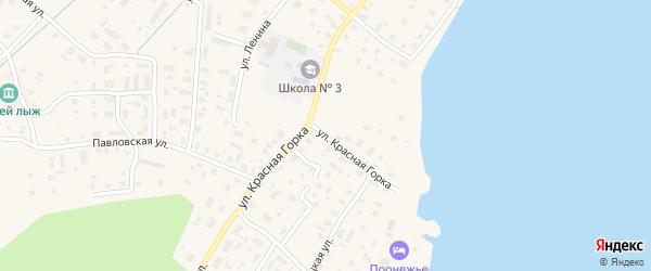 Улица Красная Горка на карте Каргополя с номерами домов