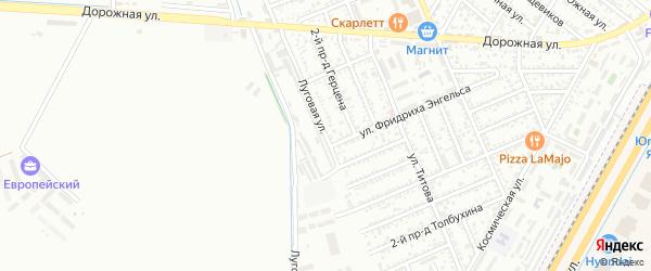 Луговая улица на карте Яблоновского поселка с номерами домов