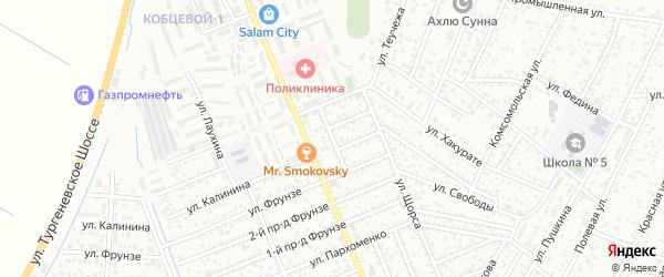 Кочубея 1-й проезд на карте Яблоновского поселка с номерами домов