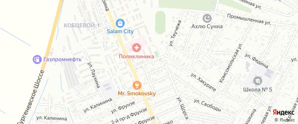 Улица Кочубея на карте Яблоновского поселка с номерами домов