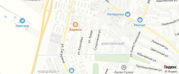 Улица Хуаде на карте Яблоновского поселка с номерами домов