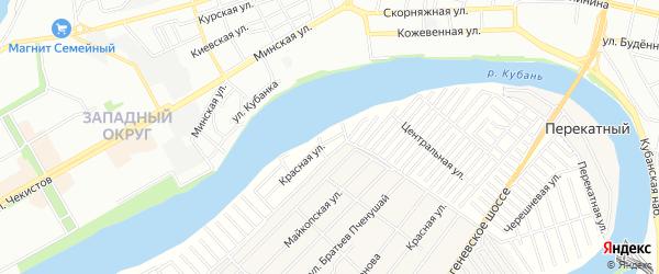 Карта садового некоммерческого товарищества Восхода 2 в Адыгее с улицами и номерами домов
