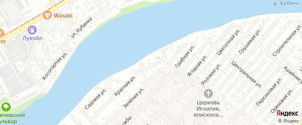 Кооперативная 1-я улица на карте садового некоммерческого товарищества Восхода с номерами домов