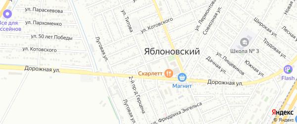 Улица Чапаева на карте Яблоновского поселка с номерами домов