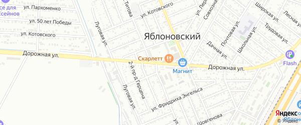 Улица Титова на карте Яблоновского поселка с номерами домов