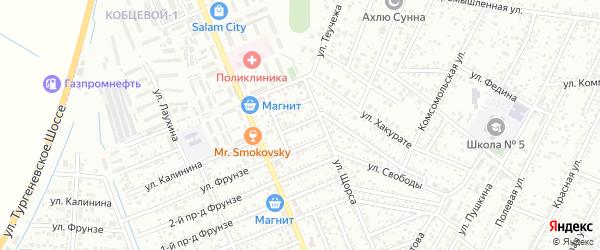 Кочубея 2-й проезд на карте Яблоновского поселка с номерами домов