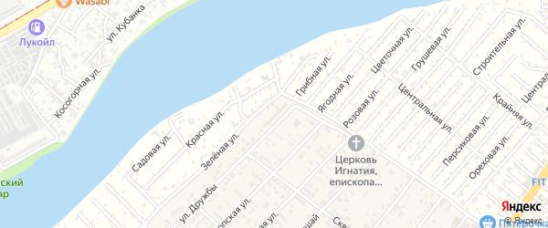 Улица Дружбы на карте садового некоммерческого товарищества Восхода 2 с номерами домов