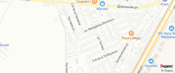 Энгельса 1-й проезд на карте Яблоновского поселка с номерами домов