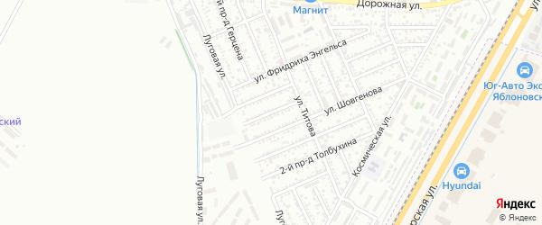 Энгельса 2-й проезд на карте Яблоновского поселка с номерами домов
