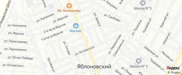 Пархоменко 2-й проезд на карте Яблоновского поселка с номерами домов