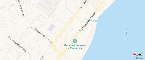 Улица 1 линия Красной Горки на карте Каргополя с номерами домов