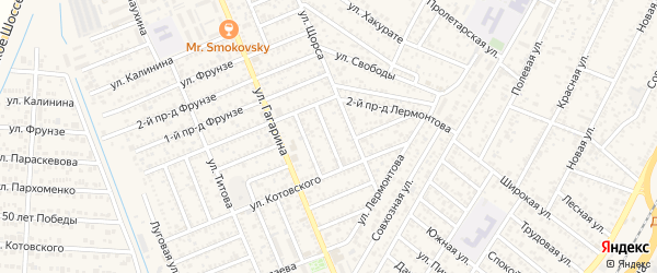 Пархоменко 1-й проезд на карте Яблоновского поселка с номерами домов