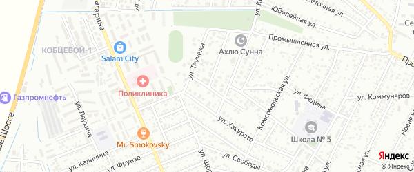 Олимпийский переулок на карте Яблоновского поселка с номерами домов