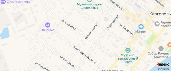 Улица Сергеева на карте Каргополя с номерами домов