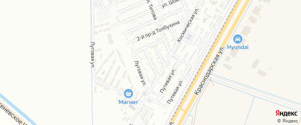 Фестивальная улица на карте Яблоновского поселка с номерами домов