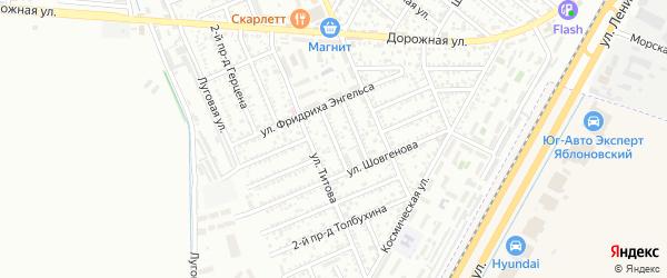 Азовский 2-й проезд на карте Яблоновского поселка с номерами домов