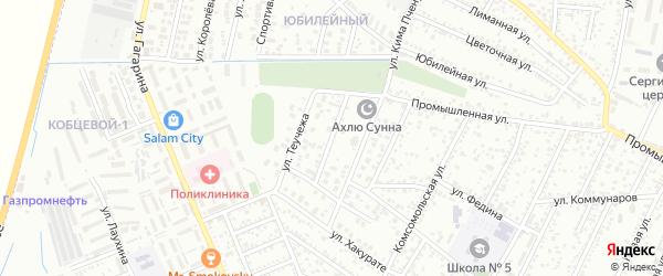 Улица Хаткова на карте Яблоновского поселка с номерами домов