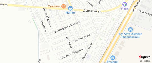 Азовский 1-й проезд на карте Яблоновского поселка с номерами домов