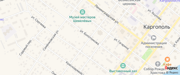 Улица Болотникова на карте Каргополя с номерами домов