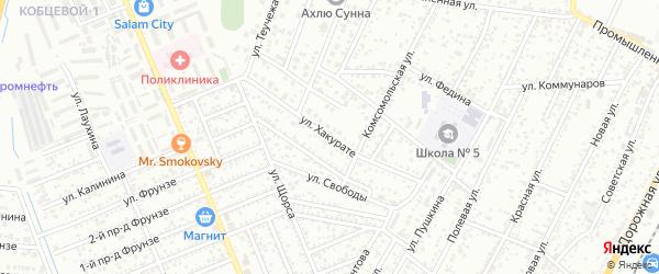Улица Хакурате на карте Яблоновского поселка с номерами домов