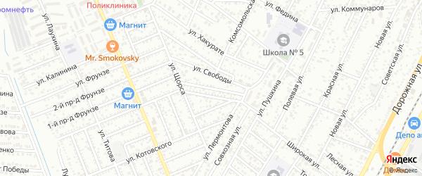 Лермонтова 3-й проезд на карте Яблоновского поселка с номерами домов